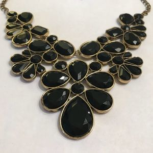 Old Navy black and gold statement necklace